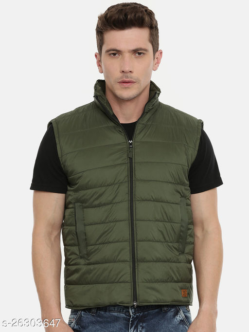 Unsully Men's Bomber Jackets/ Solid Mat Olive Green Stylish Jacket for Men