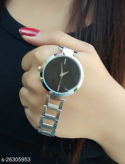 Trendy new design Stainless  steel Strap analog watch for girls