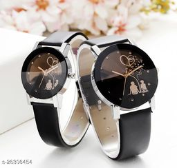 Trendy festive analog wrist watches for couple