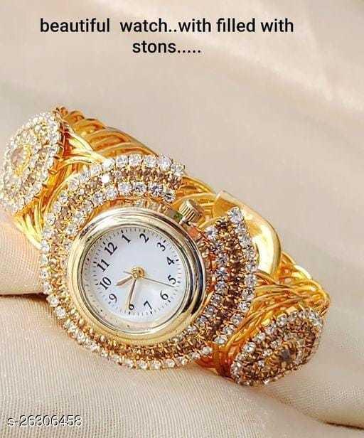 Bracelet type Golden watch for Girls