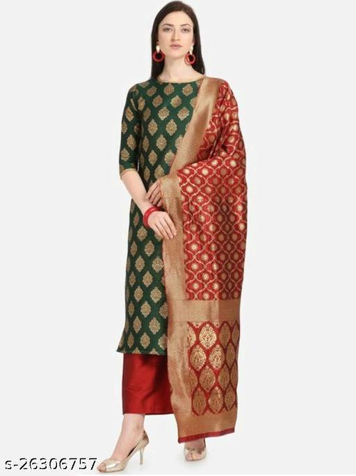 women Banarasi silk Dress Materials