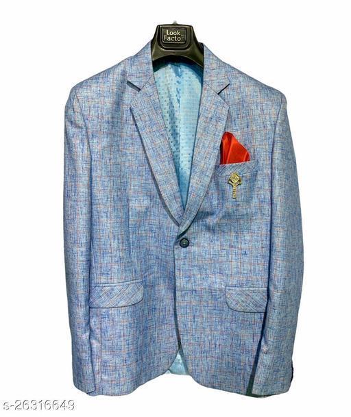 checkered single breasted formal men full sleeve blazer