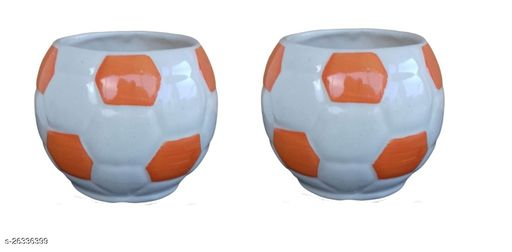 Football Ceramic Pot for indoor plants Plant Container Set of 2 PCS
