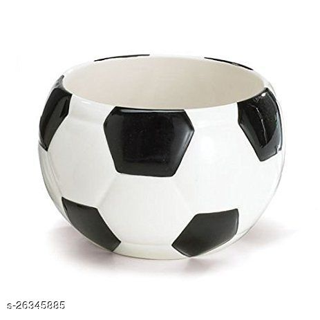 Football Ceramic Pot for indoor plants Plant Container Set of 1 PCS