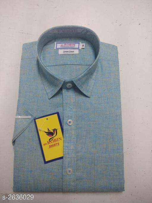 Elegant Men's Cotton Linen Shirt