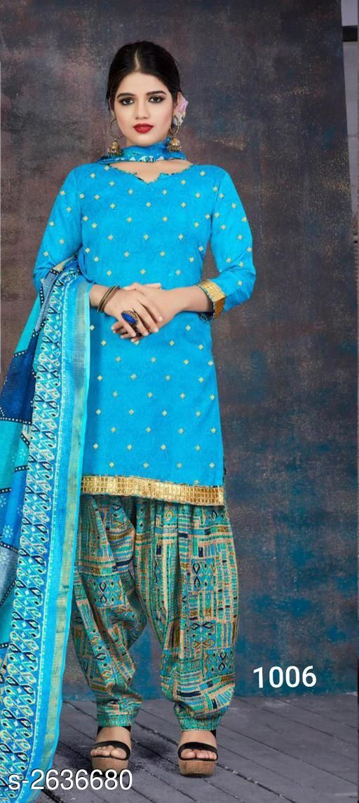 Stylish  Cotton Suits & Dress Materials