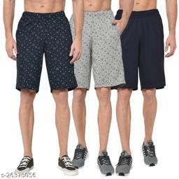 Vimal Jonney Multicolor Shorts For Men ( pack of 3)