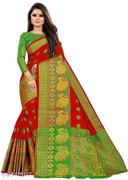 KP Pecock Fancy Banarasi Silk Saree