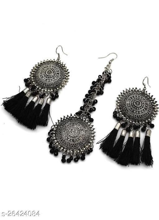 Mad Over Fashion Black Bahubali Style Maangtika Set