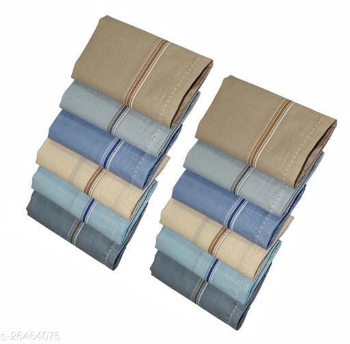 Tomkot Premium Quality Men's colour Hanky Pack of 12