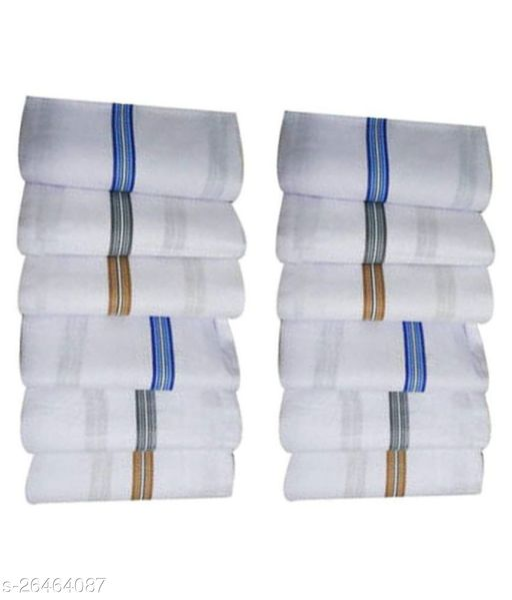 Tomkot Premium Quality Men's white Hanky Pack of 12