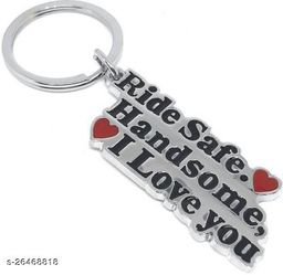 Ride Safe Handsome I Love You Key Chain For For Best Friend Boy Friend & Anniversary Gift Free Hand Bracelet