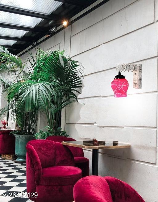 Afast Designer Black White Wood Pendant Wall Light/ Night Lamp Of Colorful Glass Shade