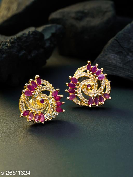 Rose Gold American Diamond Women's Earring