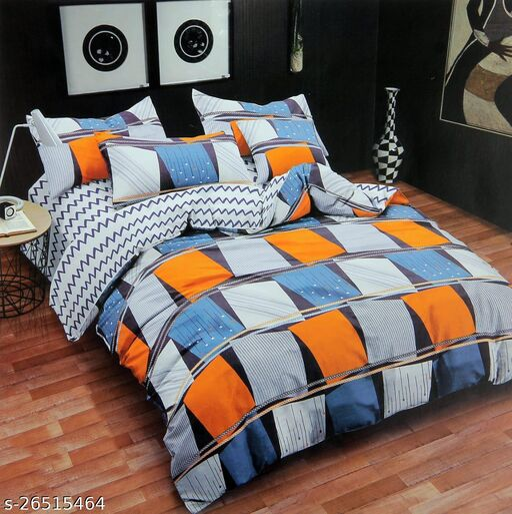 New Stylish Printed Cotton Double Bedsheet