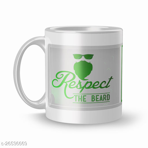 Respect The Beard Best Gift for Kids,Brother,Gift for Girlfriend,Boyfriend,Husband,Wife Tea Mugs