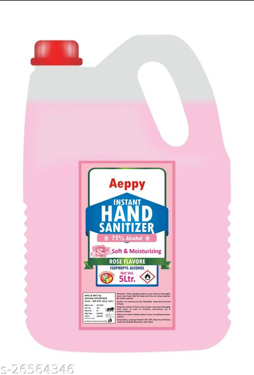 HAND SANITIZER ROSE FLAVORE 75% ALCOHOL 5000ML (5L)