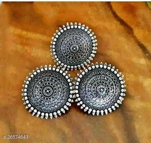 Desinger beautiful big earrings with ring for women & girls