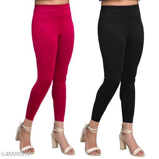 Premium Cotton Ankel Legging perfect fit Black & Red
