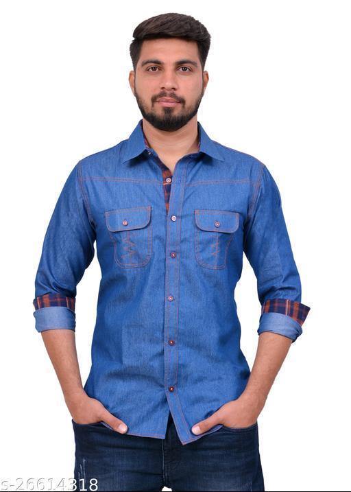 Party Wear Blue Color Shirt