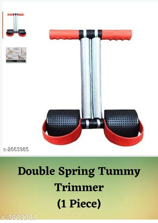 Double Spring Tummy Trimmer Red & Black