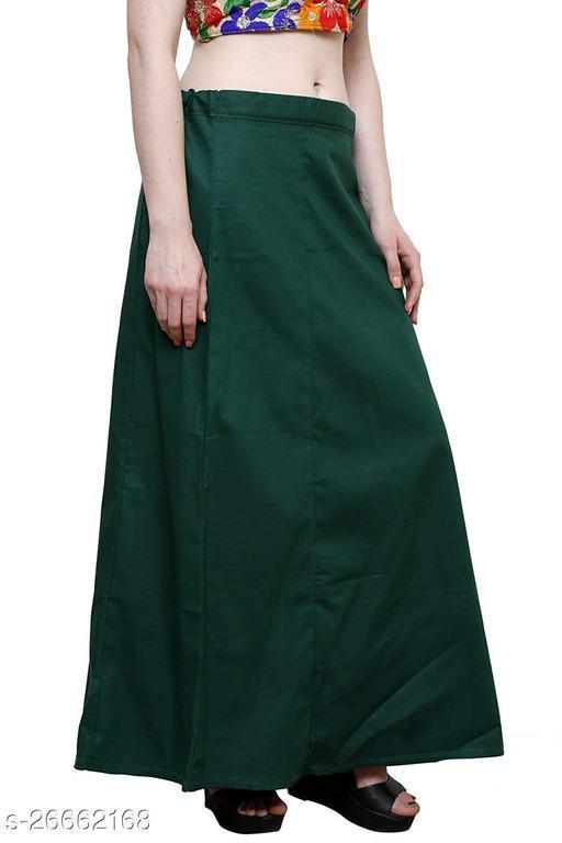 BelleVie Cotton Plain Readymade Saree Petticoats For Women & Girls_XL