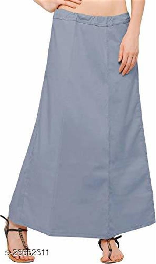 BelleVie Cotton Plain Readymade Saree Petticoats For Women & Girls_xxl