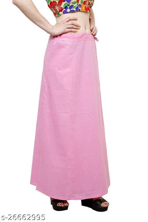 Saraswati Cotton Plain Readymade Saree Petticoats For Women & Girls_xxl