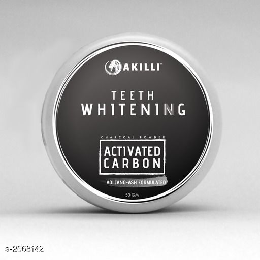 AKilli Teeth Whitening Charcoal Activated Carbon Powder