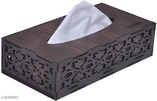 Tissue box jali Brown Handcrafted Tissue Paper Tissue Holder Car Tissue Box