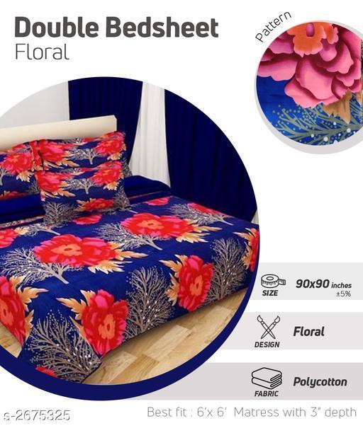 Designer Microfiber Printed Double Bedsheet