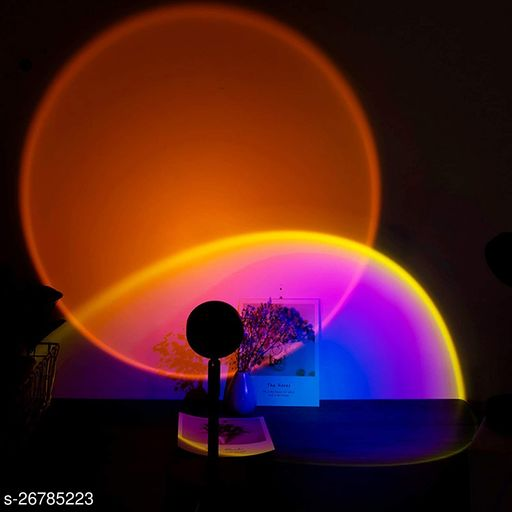 X Pulse Sunset Projection Lamp Led with 180° Rotatable, Romantic Visual Led Lamp Desk Table Stand or Floor Modern Lamp Night Light for Living Room USB Charging Background Wall Decoration Gift (Sun)