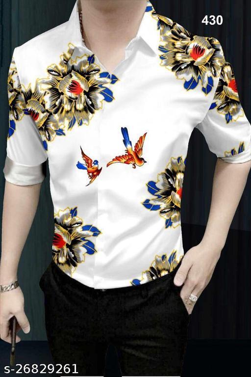 GR Fashion Digital Printed Cotton Linen Printed Shirt