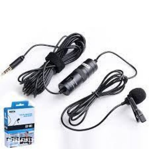 Boya collar mic 3.5mm Clip Microphone For Youtube   Collar Mic for Voice Recording   Lapel Mic Mobile, PC, Laptop, Android Smartphones, DSLR Camera Microphone Microphone 20 ft