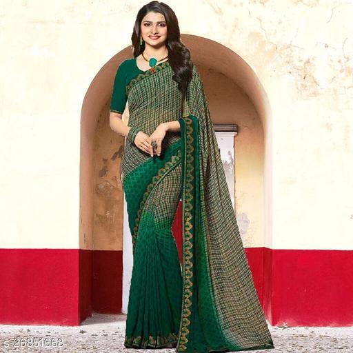 Daily wear Georgette fancy Saree