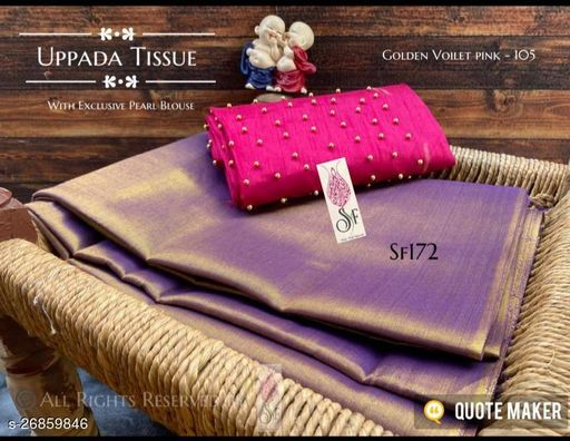 Tissue Silk cotton saree  with dual shade contrast jacquard Blouse?