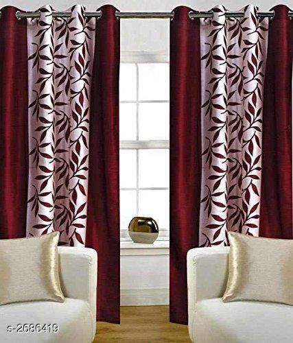 Latest Polyester Door Curtains (Pack Of 2)
