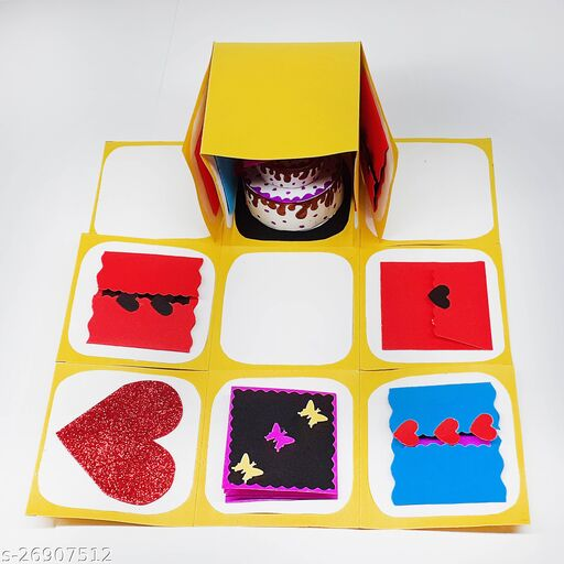 Fabulous Handmade Explosion Box|Greeting Box|Greeting Card for Birthday | Friendship Day | Valentines Day | Mothers Day