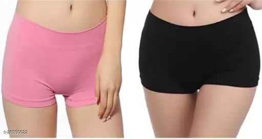 Women Hipster Pink Hosiery Panty (Pack of 2)