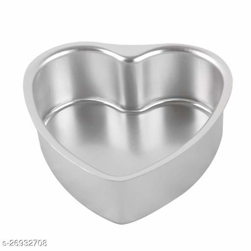 Heart Shape Aluminum Cake Mould Fixed Bottom Cake Mould Pans