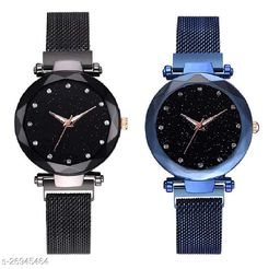 Trendy twinkling attractive dial watch for Girls(pack of 2)