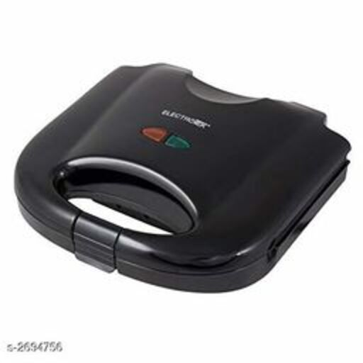 shopper 52 Metal 2 Slice Electronic Sandwich Toaster with Fixed Grill Plate SDWMKR