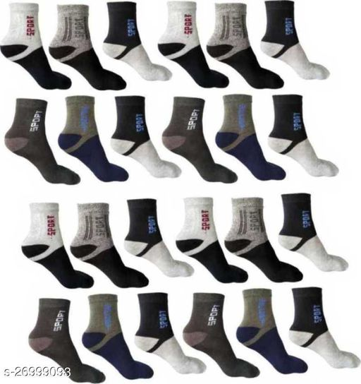 Daily Wear Men's Ankle Socks pack of 12 pairs