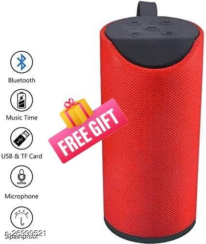 TG113 Bluetooth Speaker Portable Wireless Speaker with Mic Super Bass Splashproof Wireless Bluetooth Speaker Compatible for Keep in car(Color May Vary)