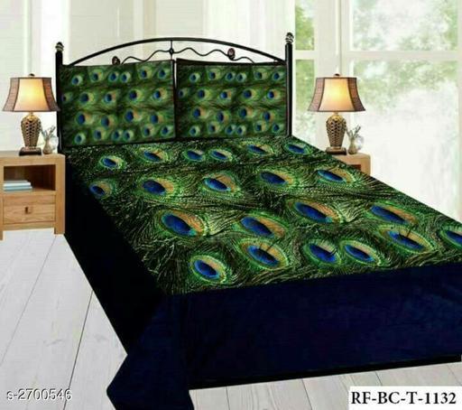Heritage Velvet Printed Double Bedsheet