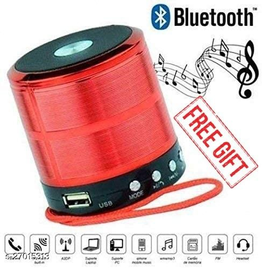 Mini Bluetooth Speaker WS-887 with FM Radio, Memory Card Slot, USB Pen Drive Slot, AUX Input Mode (Random Color)