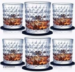 Glass Whisky, Beer Glass - 6 Pieces, Transparent, 300ml