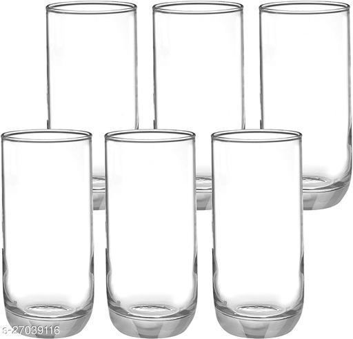High Ball Glass Set, 360ml, Set of 6, Transparent