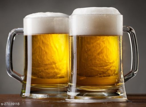 Glass Classic Beer Mug - 2 Pieces, Clear, 400 ML