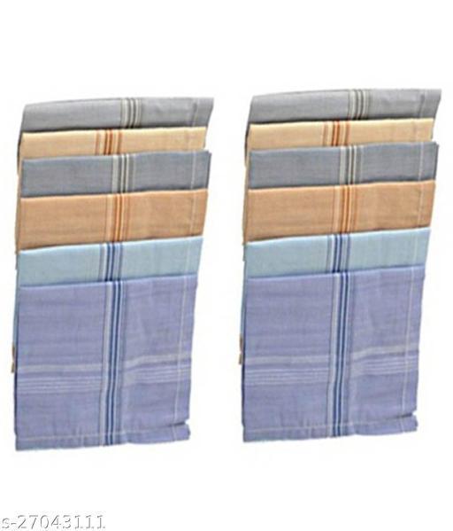 Piftif Premium Quality Men's colour Hankerchiefs Pack of 12